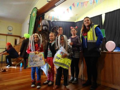 Movin' March Poster winners at Carterton School