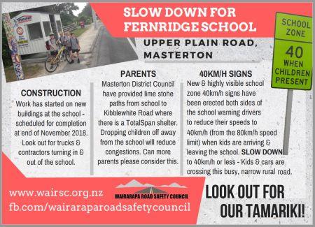 Slow Down for Fernridge School