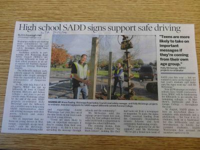 SADD Signs go up!