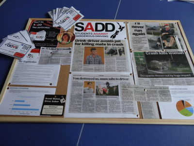 SADD School notice boards